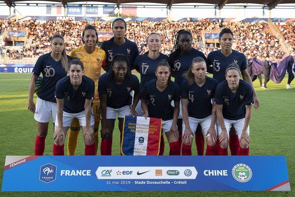 L'équipe de France féminine qui a joué contre la Chine, le 31 mai 2019.