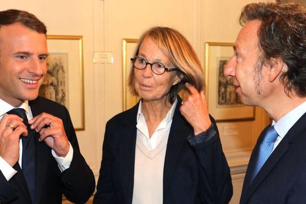 Le président Emmanuel Macron, la ministre de la Culture Françoise Nyssen et l'animateur Stéphane Bern ont visité ce samedi le château d'Alexandre Dumas dans les Yvelines.