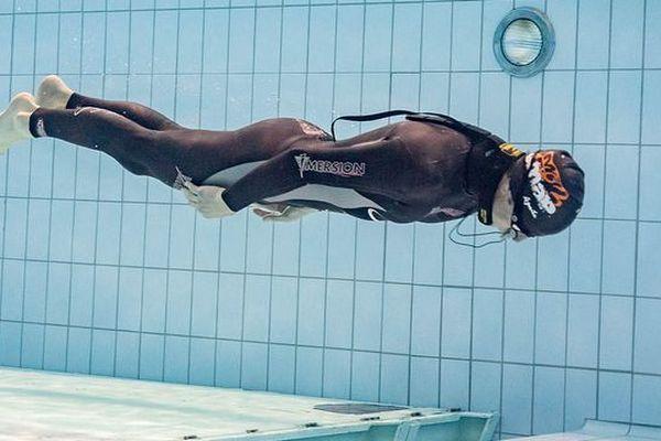 Olivier Blaevoet aux championnats de France de nage dynamique sans palmes (2018)