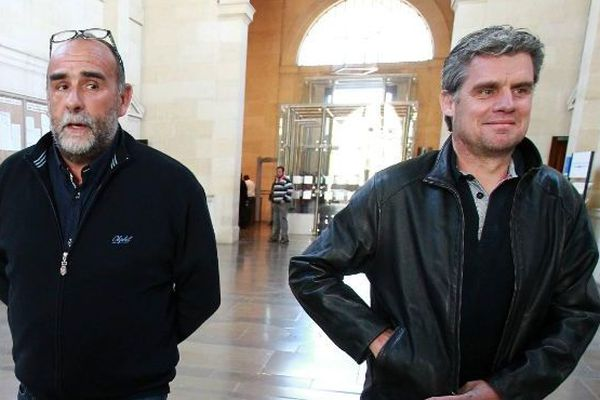 Serge Bousquet-Cassagne à droite et Patrick Franken à gauche en 2015. Les deux hommes forts de la chambre d'agriculture du Lot-et-Garonne détenue par la Coordination Rurale qui emporte pour la 4e fois l'élection.
