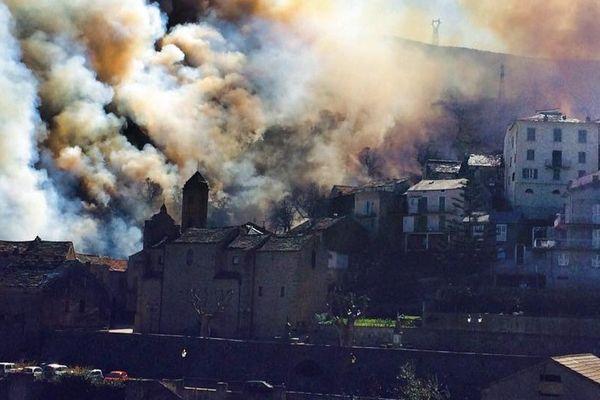 Incendie à Lucciana (Haute-Corse)