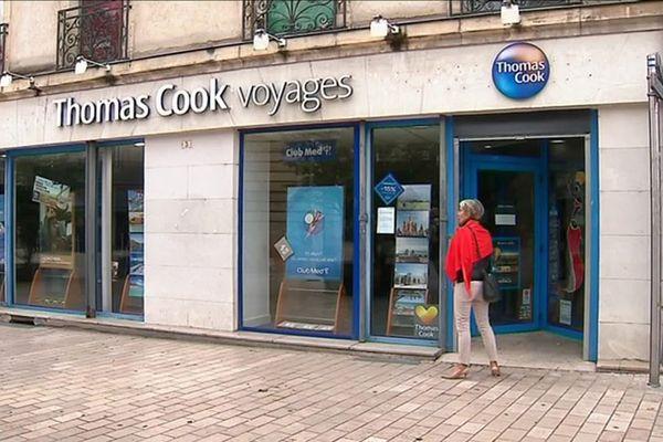 L'agence de voyages Thomas Cook à Dijon