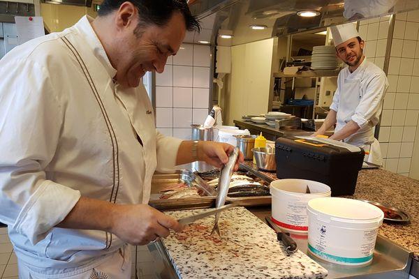 Le chef Wilfrid Chaplain, cuisinier au restaurant étoilé le Radio.