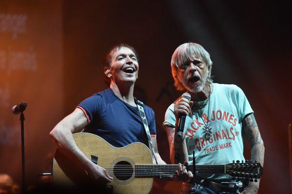 Renaud au côté de Jean-François Bernardini à Saint-Etienne en 2016