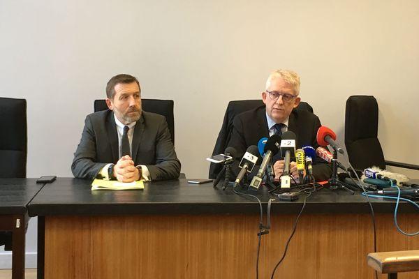 Conférence de presse de Jean-Philippe Vicentini, procureur de Valenciennes et Romuald Muller, directeur de la PJ de Lille.