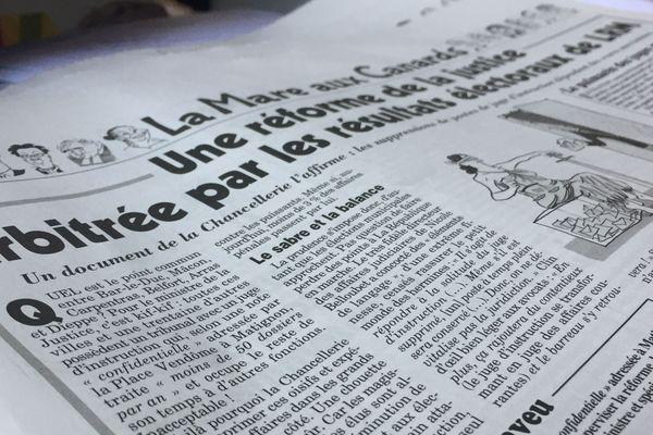 L'article du Canard Enchaîné sur la suppression des postes de juge d'instruction en fonction des scores de LREM