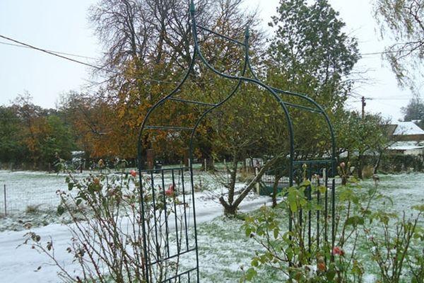 Les premières chutes de neige ont eu lieu fin octobre dans le pays de Caux, ici à Criquetot-sur-Ouville.