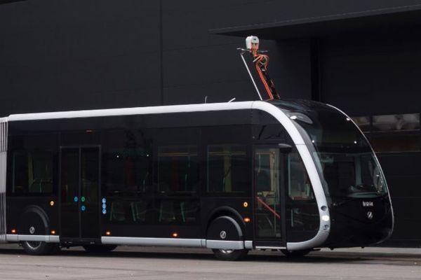 Illustration d'un des nouveaux bus électriques qui seront mis en service à Amiens à partir du printemps 2019