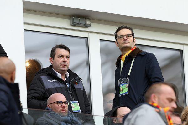 Arnaud Pouille et Joseph Oughourlian à Bollaert-Delelis en février 2019.