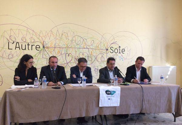 L'annonce du financement européen a été faite par David Kimelfeld, président de la Métropole de Lyon avec les protagonistes du projet