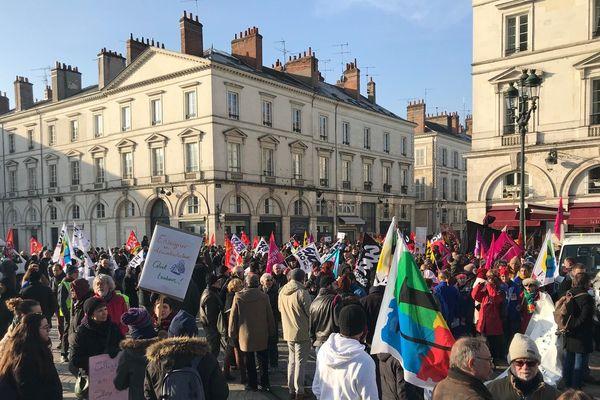 24 janvier 2020. Des centaines de personnes ont défilé à Orléans contre la réforme retraite
