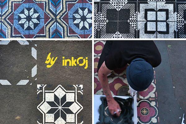 InkOj conçoit et fabrique à la main ses pochoirs