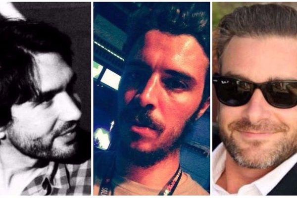 Alban Denuit, Maxime Bouffard et Bertrand Navarret, tous trois victimes des attaques terroristes du 13 novembre au Bataclan