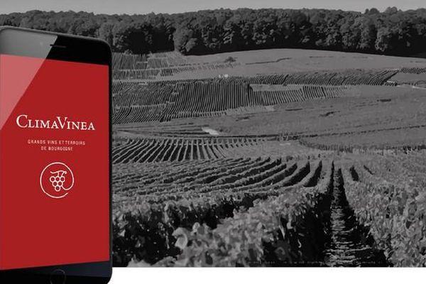 L'application ClimaVinea permet notamment aux amateurs de vins de Bourgogne de se géolocaliser en temps réel dans le vignoble.