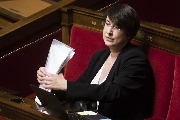 La députée la France Insoumise Muriel Ressiguier à l'Assemblée Nationale - le 29 octobre 2019.