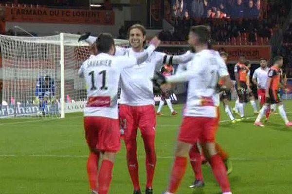 Lorient - Nîmes bat le FC Lorient 2 à 1 - 28 novembre 2017.