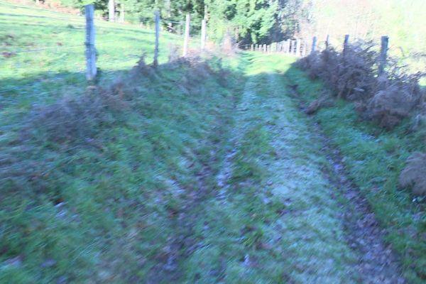 La trace de Lesline Ravel fut perdue à proximité du village de Lascaux en Corrèze