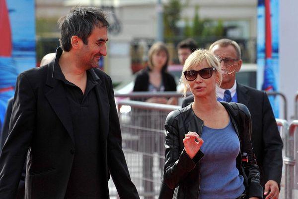 Manuel Pradal, réalisateur et scénariste, et Emmanuelle Béart à Deauville - Archives 2010