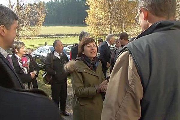 Langogne (Lozère) - Carole Delga en visite - 3 novembre 2016.