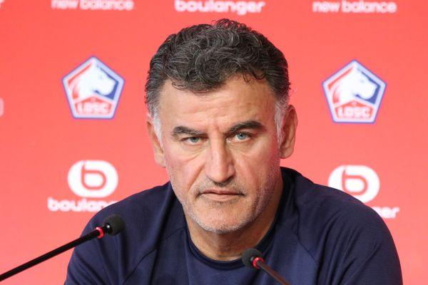 Christophe Galtier, entraîneur du LOSC, ce 11 septembre en conférence de presse à Luchin.