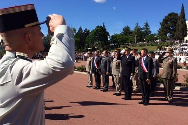 Cérémonie commémorative de Camerone au 1er REC à Orange