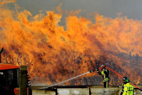07/02/2012 : Gigantesque incendie à l'usine Fibre Excellence