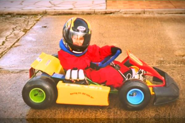 Esteban Ocon, 4 ans, déjà pilote