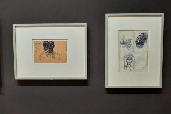 Dessins de Giacometti réalisés au stylo Bic, oui, celui des écoliers !