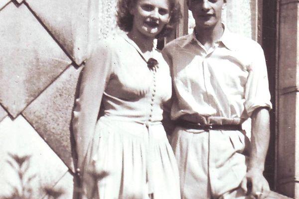 Les parents de Daniel Wanlin, Jean et Andrée, durant l'été 1950.
