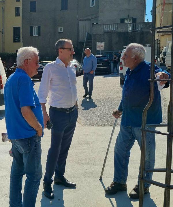 Eric Simoni et Jean-Guy Talamoni à la rencontre des habitants de Zilia
