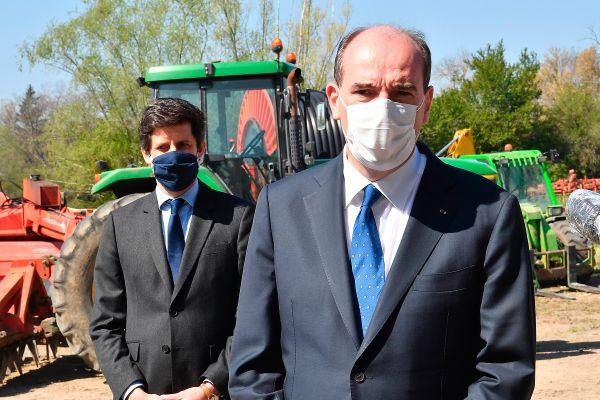 Le premier ministre Jean Castex et le ministre de l'agriculture Julien Denormandie étaient en visite dans le Puy-de-Dôme ce vendredi 23 avril.