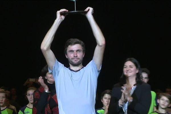 Gilles Simon a remporté pour la deuxième fois ce mercredi soir l'Open de Caen