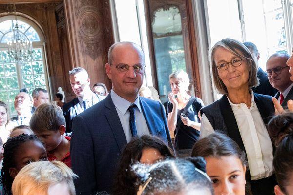 Françoise Nyssen, ministre de la Culture et Jean-Michel Blanquer, ministre de l'Education, ensemble hier pour le lancement d'un vaste plan d'accès à la culture à l'école
