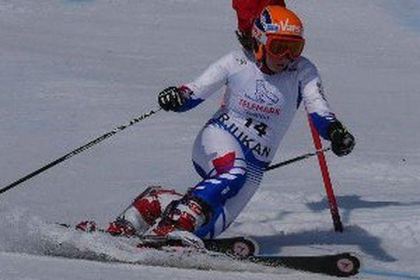 Maelle Froissart, championne de France de telemark à Vars
