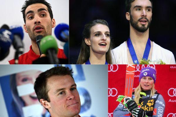 Les princiapales chances de médailles : Martin Fourcade, le couple Papadakis-Cizeron, Alexis Pinturault et Tessa Worley