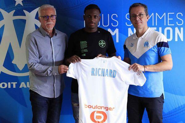 Richecard Richard fait partie des espoirs de l'Olympique de Marseille.