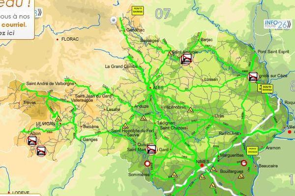 Carte inforoute Gard