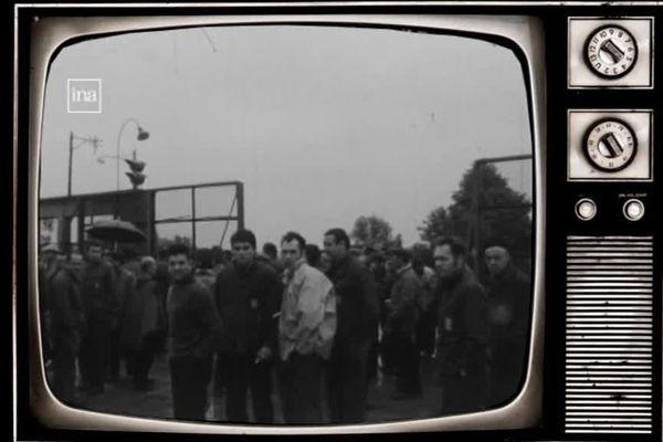 Le 10 juin 1968, jour de la reprise du travail chez Sud-Aviation, après 3 semaines de grève et d'occupation du site