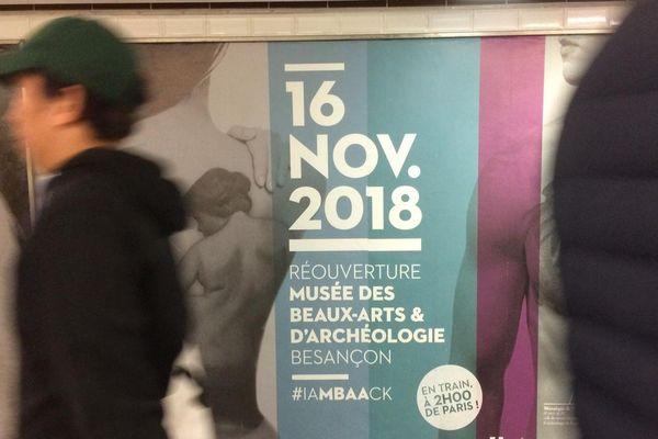 Le musée des Beaux-arts de besançon s'affiche dans le métro parisien