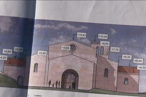 Les plans de la future église