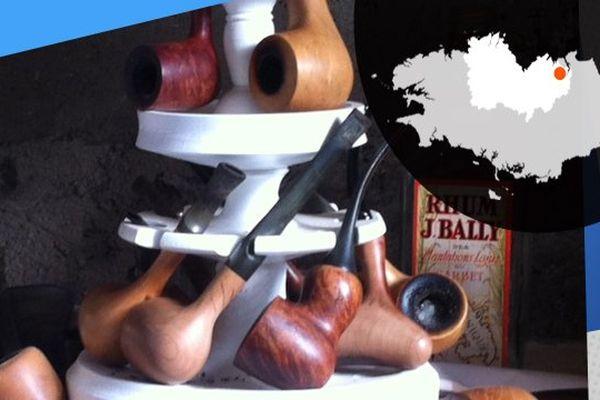 Rémi utilise du bois de bruyère pour sculpter ses pipes