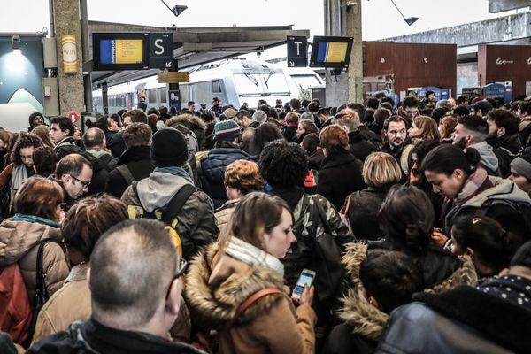 Photo d'illustration. Le 23 décembre 2017 en gare de Paris-Bercy.