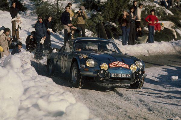 RALLYE DE MONTE CARLO :  BERLINETTE ALPINE A110 DE Ove ANDERSSON. 1er février 1971.