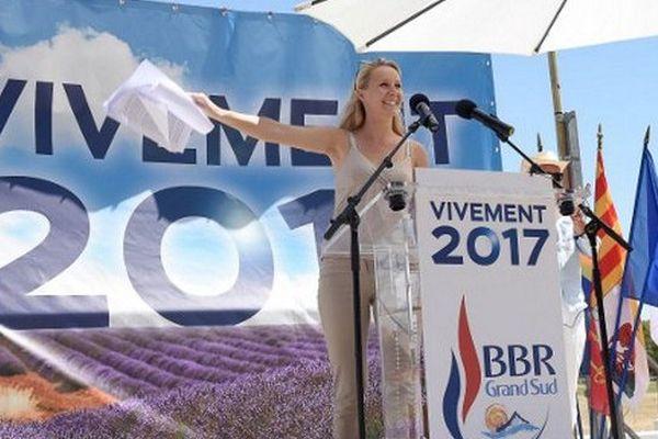 """Marion Maréchal-Le Pen organisait ce samedi au Pontet, une ville FN, une fête """"BBR Grand Sud"""", BBR pour bleu blanc rouge."""