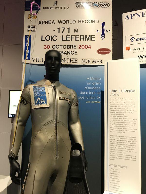 L'une des combinaisons de Loïc Leferme vient de faire son entrée au Musée National du Sport à Nice.