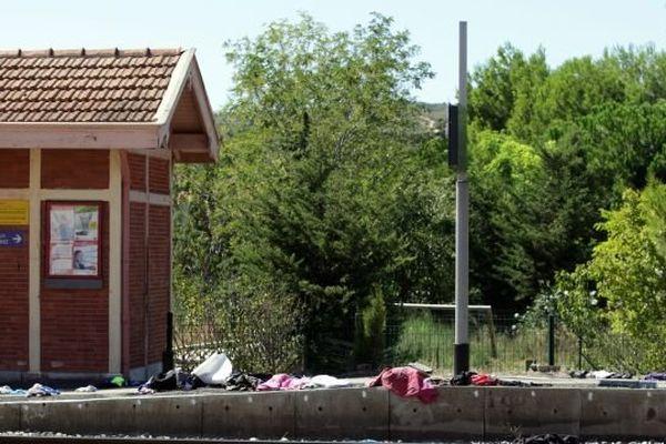 Le quai de la gare de Salses (66) peu après l'accident