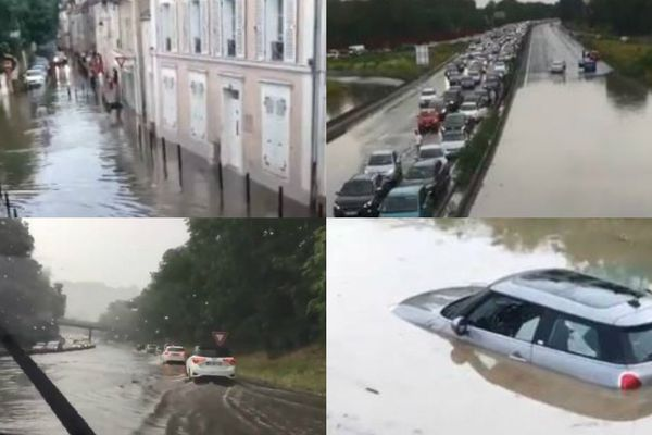 A Savigny-sur-Orge, sur l'A6 ou la RN118... Des inondations en Île-de-France.