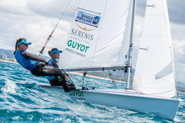 Camille Lecointre et Aloise Retornaz en 470 aux Jeux Olympiques de Tokyo