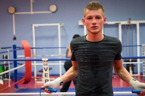 Vincent Legrand à l'entraînement à Bruay-Labuissière