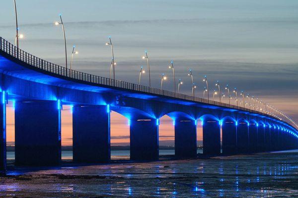 Le Pont d'Oléron éclairé (Archives)